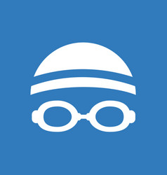 Diver swimmer equipment vector