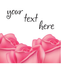 frame with roses and space for text vector image