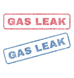 Gas leak textile stamps vector