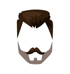 Hairstyle beard and hair face cut mask flat vector image