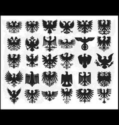heraldiic eagles vector image vector image
