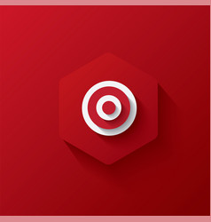 Icon target on hexagon red icon and background l vector