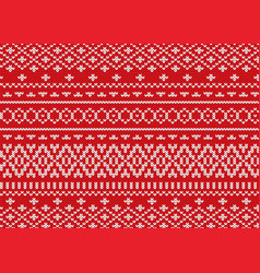 knit geometric ornament design christmas seamless vector image vector image