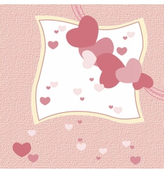Love heart invitation card vector