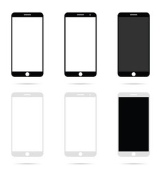 Mobile phone modern technology set vector