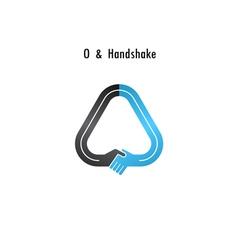 O- letter icon abstract logo design vector