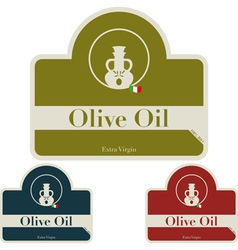 Olive il - label vector image