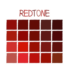 Redtone color tone without name vector
