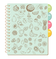 Scrapbook design elements -set of various fruits vector