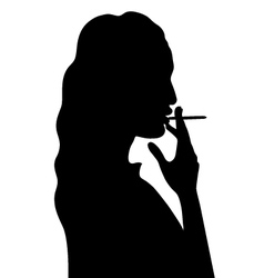 smoking woman vector image vector image