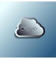 steel 3d cloud Data storage vector image vector image