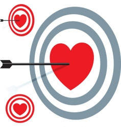 target love vector image vector image