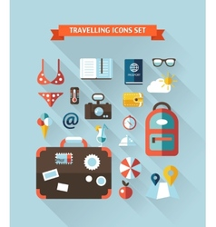 travel flat design composition vector image vector image