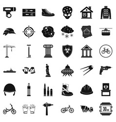 Truck icons set simple style vector