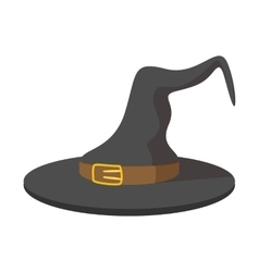 Witch hat cartoon icon vector image vector image