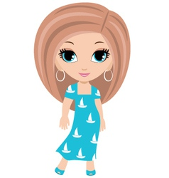 woman cartoon vector image