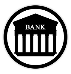 Bank button on white vector