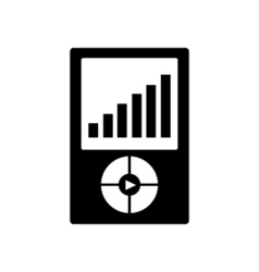 Mp3 player icon portable media player symbol vector