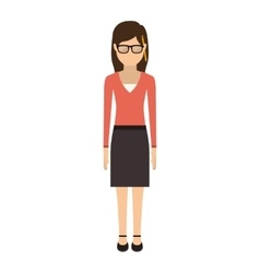 Teen with medium hair and skirt vector