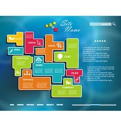 Corporate Website template Creative vector image