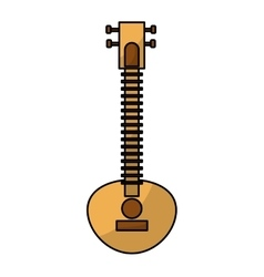 Sitar indian music instrument vector