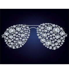 Glasses made up a lot of diamonds vector
