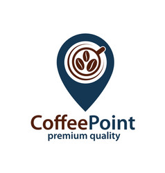 Coffee point icon vector