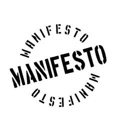 Manifesto rubber stamp vector