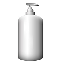 A gray spray bottle vector