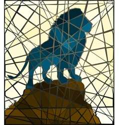 Mosaic lion vector