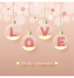 Love valentines day background vector