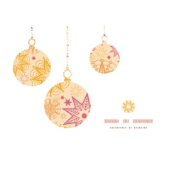 Warm stars christmas ornaments silhouettes pattern vector