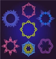 Floral frames pattern round ornamental vector