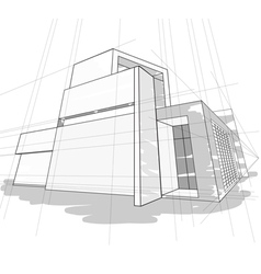 Sketch house vector