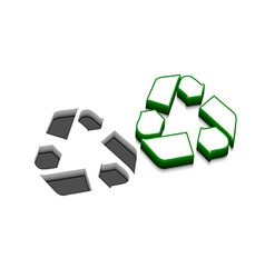 Recycle icon design vector