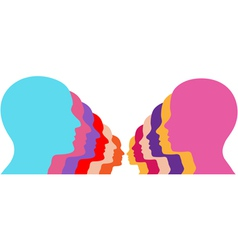 male female couples vector image
