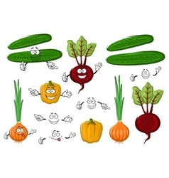 Fresh and tasty farm vegetables vector