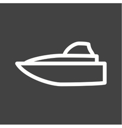 Speed boat vector