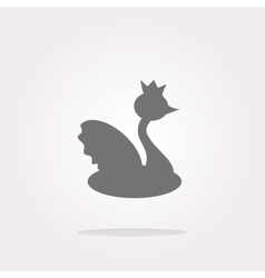 Web icon button swan web icon art graphic vector