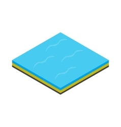 Sea icon isometric 3d style vector