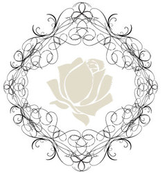 Antique Frame ornaments 2 vector image