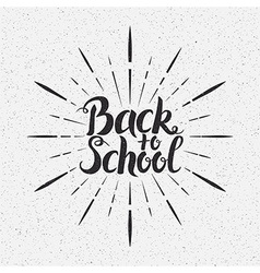 Back to School Handwritten Lettering vector image vector image