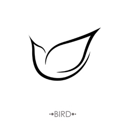 Bird logo design template linear style vector