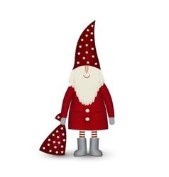 Christmas card santa claus isolated on vector