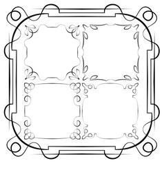 Delicate frames set vector