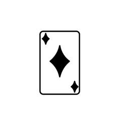 Diamond card icon vector