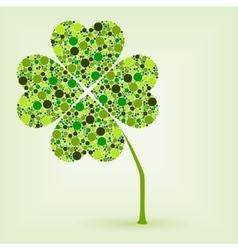 Dots four leaf clover vector