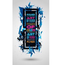 futuristic frame art design with abstract shapes vector image vector image