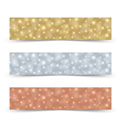 Glittering banners vector image vector image