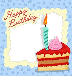 Happy birthday card Place for text vector image